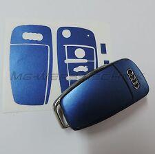 2A_arredamento chiave Adesivo per Audi A1 A3 A4 A6 TT Q7 blu metallizzato opaco