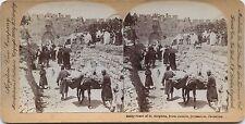 Jérusalem Gate St. Stephen Photo Stéréo Stereoview Vintage