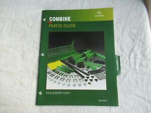 1995 John Deere 6620 6601 8820 7720 9500 CST 9600 combine parts guide brochure