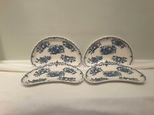 A Set of Four Mason's Fruit Basket Multi Colored Blue  Crescent Salad Plates
