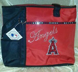 LA Anaheim Angels Rhinestone Blinged MLB Purse Tote Bag ~NEW~