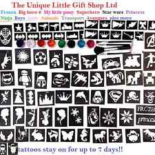 Brillo Tattoo Kit chicos y chicas valor 124 plantillas reluce Pegamento Reino Unido realizó la venta