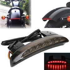 Motorcycle Chopped Fender Edge Brake License Plate Tail Light For Harley Bobber