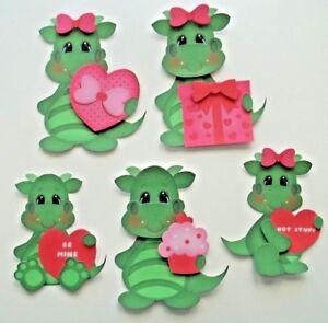 3D- U Pick- Love  Cows Dragons Dinosaurs XO Heart Paper Embellishment
