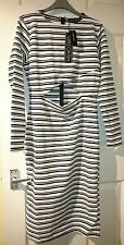 nwt House of fraser girls on film cut out bodycon midi black and white dress 12