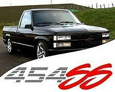 (2) 454 SS Chevy Truck 4x4 Off Road Silverado 1500 Sticker Vinyl Decal Red