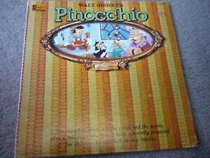 Walt Disney's Pinocchio  LP and book Disneyland ST-3905 1960 window cover