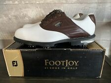 New Footjoy Classic Mens Golf Shoes 59961 Wh/Brn Size 12 Medium