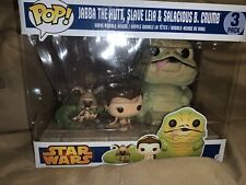 Funko Pop! Star Wars 3 Pack Jabba The Hutt, Slave Leia and Salacious B. Crumb 🔥
