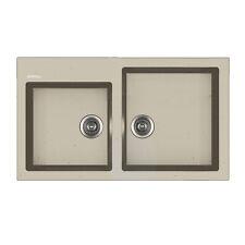 Lavello da cucina Apell Pietra Plus effetto granito avena 86x50 cm doppia vasca