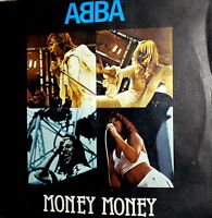 """ABBA MONEY MONEY MONEY  7"""" PS  MADE IN ITALY 1977 KNOWING ME KNOWING YOU - DIGIT"""
