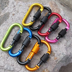 QUALITY 1-5 X-Large Locking Carabiner Clip Snap Hook Keyring Camping Karabiner