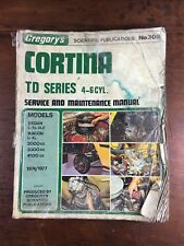 VINTAGE GREGORY'S FORD CORTINA TD SERIES 4-6 CYLINDER SERVICE MANUAL