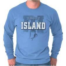 Rhode Island Student University Football RI Long Sleeve Tshirt Tee for Adults