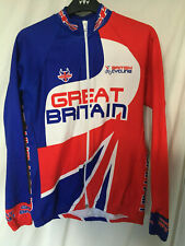Cycling bike long sleeve shirt jersey team GB team issue great britain used
