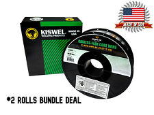 Made In Usa 2 Rolls K Ngs E71t Gs 035 In Dia 10lb Gasless Flux Core Wire