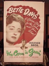 THE CORN IS GREEN, 1945 ORIGINAL 1-SHEET MOVIE POSTER, BETTE DAVIS, 41x27, RARE