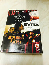 Phantom Of The Opera/Evita/Gypsy (DVD, 2005, 3-Disc Set) Theatrical Classics
