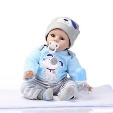 22'' Handmade Lifelike Reborn  Baby Boy Doll Silicone Vinyl Snoopy dog clothing