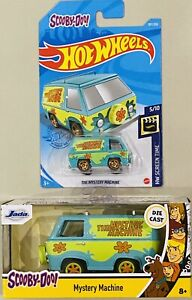 hot wheels & Jada Scooby Doo The Mystery Machine Lot Of 2 Die Cast Cars