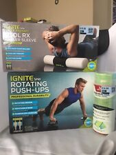 Ignite by SPRI Rotating PUSH-UPS & COOL RX Roller Sleeve Weight Loss Work Out