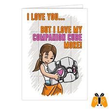 Jeu vidéo valentine's day-carte anniversaire amour romantique companion cube portal