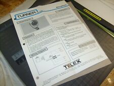 Telex TURNER Road King 56 Noise Cancelling CB Microphone ONE SHEET - ORIGINAL