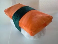 Sushi Pillow Plush Sake Nigiri Salmon on Rice 14 x 8 x 8 inches.