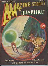 Amazing Stories Qrtly Vol 5  #1  Pulp  Winter 1932  FVF Vincent, Lemkin, Stephen
