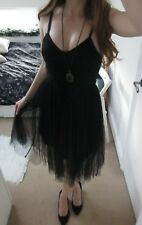 UK 8 Lydia Bright Black Lace Tulle Skirt Dress BNWT! Halloween party, sexy witch