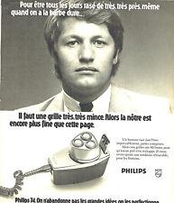 Publicité Advertising 108  1974   rasoir éléctrique Philips 3 tetes 2