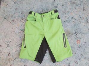 Zoic Ether Mountian Bike Shorts Men's M Cycling No Liner Cargo stretch green