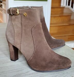Tory Burch Milan Suede Ankle Booties Shoes Size 6.5, $425