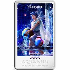 The Aquarius Zodiac Series Art by Kagaya Proof Silver Coin 2$ Niue 2011