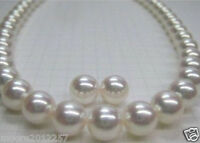 10-11MM ROUND SOUTH SEA GENUINE WHITE PEARL NECKLACE + STUD EARRING 14K