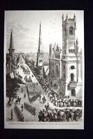 Esposizione di Philadelphia 1876 La Processione dei Templari Incisione del 1876
