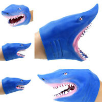 Soft Vinyl Tpr Pvc Shark Hand Puppet Animal Head Hand Puppets Kids Toys ZP