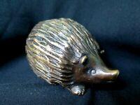 "Animal Sculpture ""Hedgehog""   Cast  Bronze  Decorative Collectible"