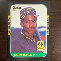 1987 Barry Bonds Donruss #361 RC Pittsburgh Pirates
