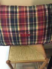 Ralph Lauren Red Blue Plaid Wedge Pillow