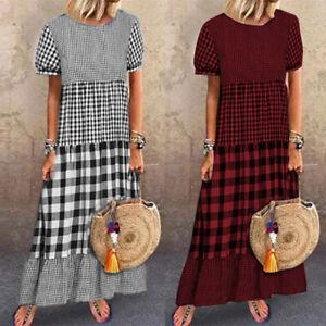 ZANZEA Women Fashion Holiday Sundress Caftan Kaftan Abaya Ladies Long Maxi Dress