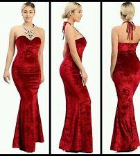 Valentines  mermaid style bejeweled velvet dress, size Small 4/6