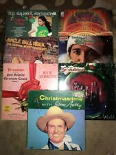 Christmas Lp Lot Of 7 Records Autry Herb Albert  New Edition