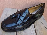COLE HAAN Mens Dress Shoes Black Leather Casual Slip On Tassel Loafer Size 10.5D