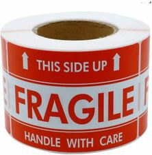 Hybsk 3x5 Inch Handle With Care This Side Up Fragile Stickers Adhesive Label Usa