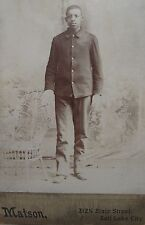 INDIAN WAR AFRICAN AMERICAN BUFFALO SOLDIER 9th OR 10th CAVALRY SALT LAKE PHOTO