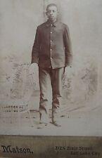 INDIAN WAR AFRICAN AMERICAN BUFFALO SOLDIER 24th 9/10 FT DOUGLAS SALT LAKE PHOTO