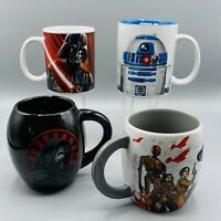 Lot 4 Officially Licensed STAR WARS Collectible Coffee Mugs Set Vader Kylo R2-D2