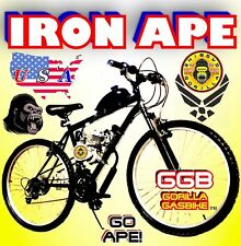 """50 80cc Gas Motor Complete Iron Ape Engine & 26"""" Bike Bicycle Scooter Diy Kit"""