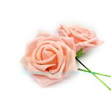 50 Colourfast Foam Rose Artificial Flower Wedding Bride Bouquet Party Decor